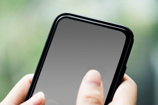 Touchscreen mobile phone mockup