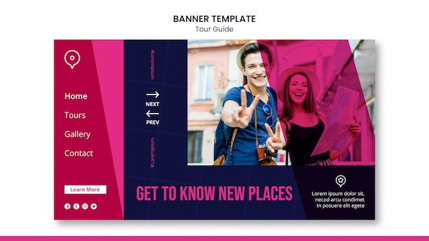 Tour guide banner template