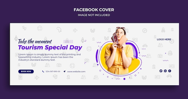 Tourism special day facebook timeline cover and web banner template