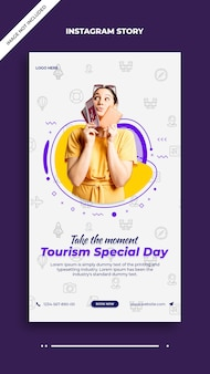 Tourism special day instagram and facebook post story template