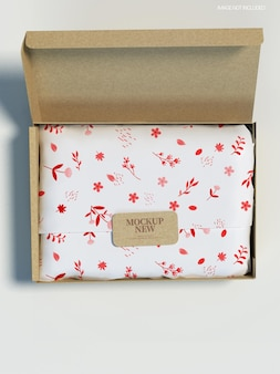 Towel gift mockup