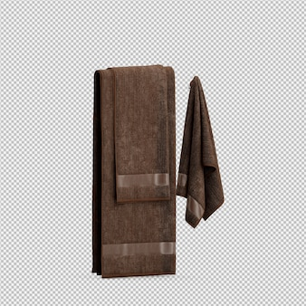 Towels hanging 3d isolated render