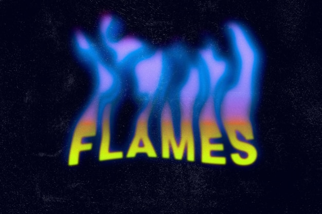 Toxic flames text effect template