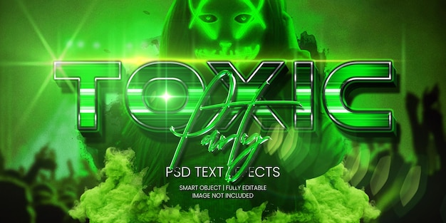 Toxic party text effect