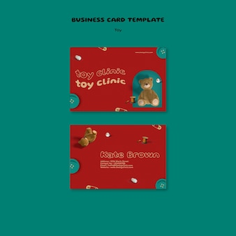 Toy restorations business card design template