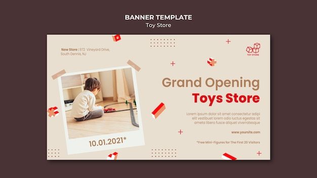 Toy store ad template banner