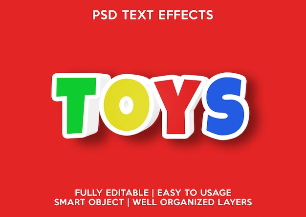 Toys text effect