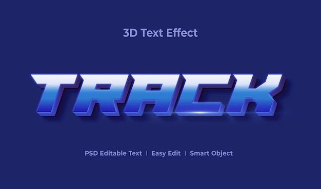 Track 3d text effect mockup template