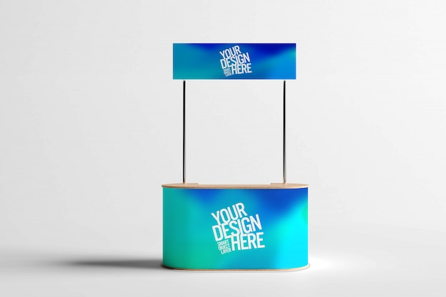 Trade business stand mock up