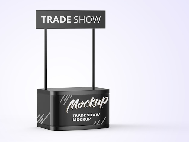 Trade business stand mockup