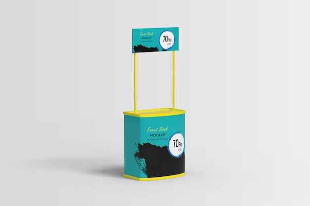 Trade show booth display stand mockup