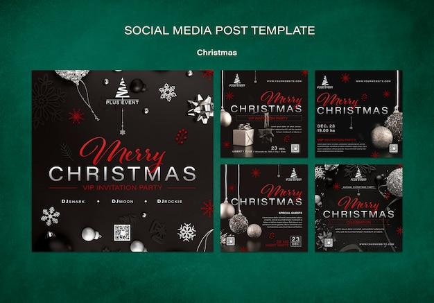 Collezione di post natalizi tradizionali ig