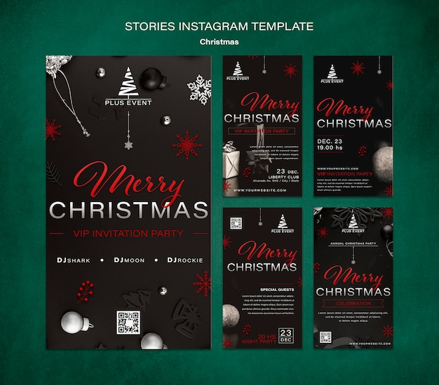 Traditional christmas ig stories collection