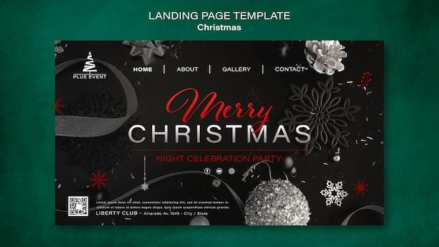 Традиционный рождественский шаблон целевой страницы