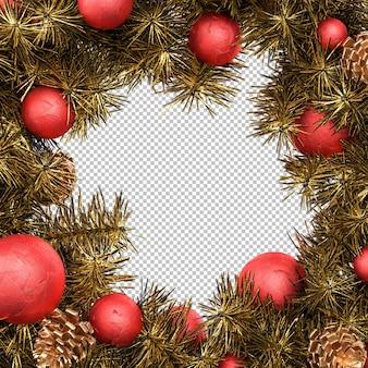 Традиционный рождественский венок. 3d-рендеринг