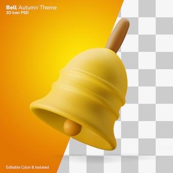 전통적인 빈티지 가을 종 3d 그림 렌더링 아이콘 편집 가능한 절연