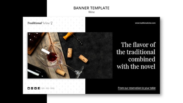 Traditional wine banner template