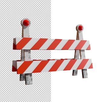 透明な背景の交通障壁