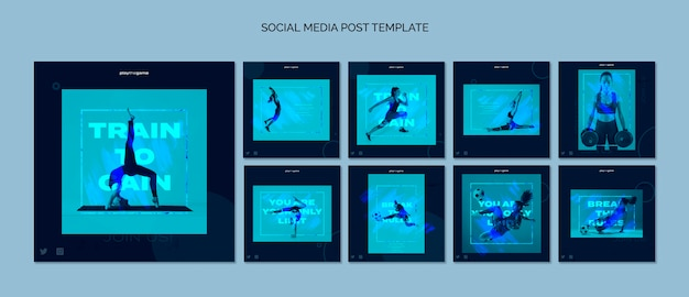 Train to gain instagram post template collection