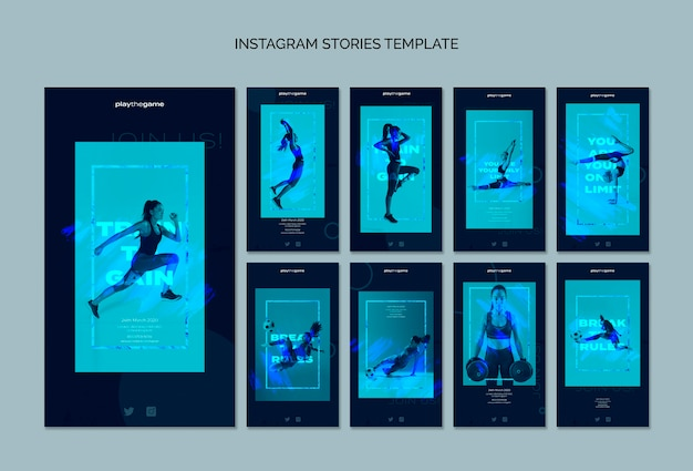 Train to gain instagram stories template collection