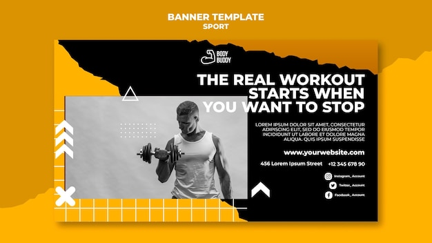 Training process banner template