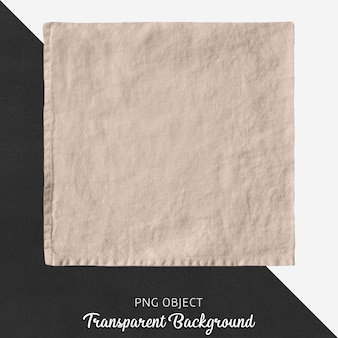 Transparent beige, square linen handkerchief