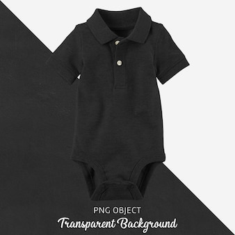 Transparent black polo tshirt jumpsuit, bodysuit for baby or children