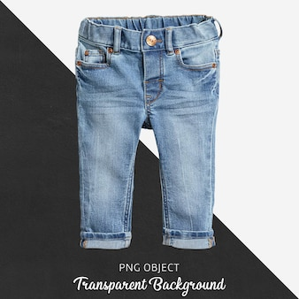 Transparent blue jean troussers for baby or children