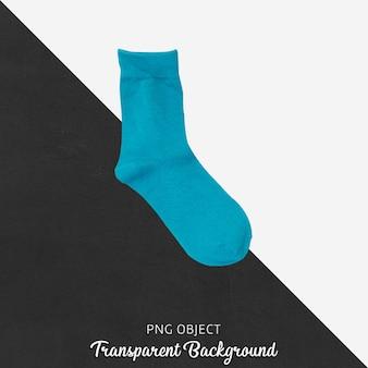 Прозрачные синие одинарные носки