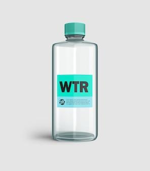 透明なボトルのモックアップ