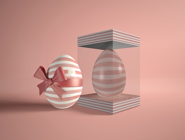 Transparent box with easter egg