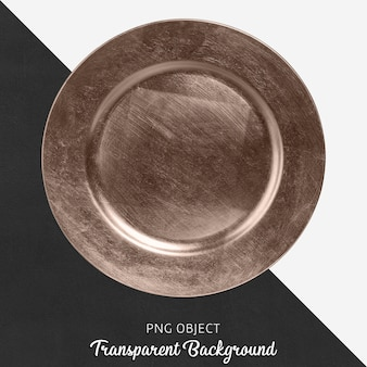 Transparent bronze serving plate