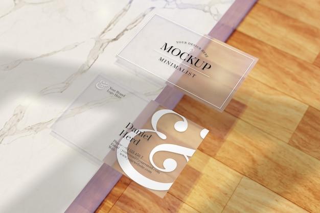 Прозрачный макет визитки