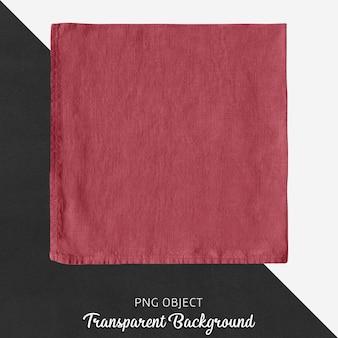 Transparent claret red linen handkerchief