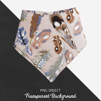 Transparent colorful feathery patterned bandana for baby or children