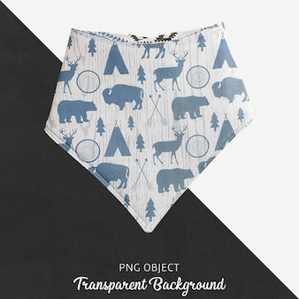 Transparent colorful patterned blue baby bandana