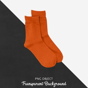 Прозрачные темно-оранжевые одиночные носки