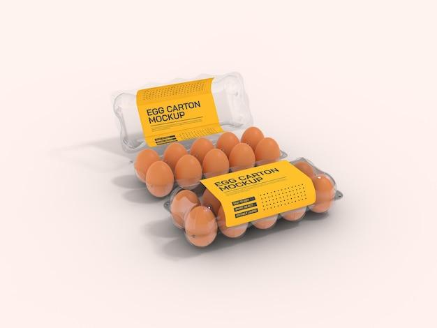 Прозрачный макет коробки для яиц