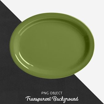 Transparent ellipse green ovenware