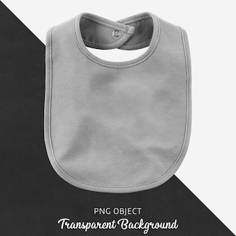 Transparent gray bib