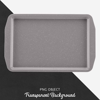 Transparent gray oven tray