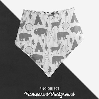 Transparent gray patterned bandana for baby or children