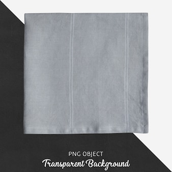 Transparent gray, satin, fabric handkerchief