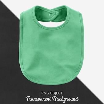 Transparent green bib for baby or children