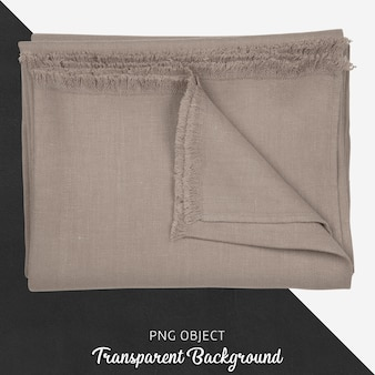 Transparent light brown linen kitchen textile