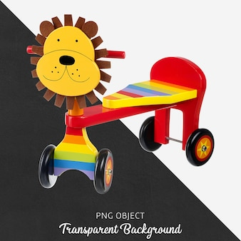 Transparent lion wooden bicycle for baby or children