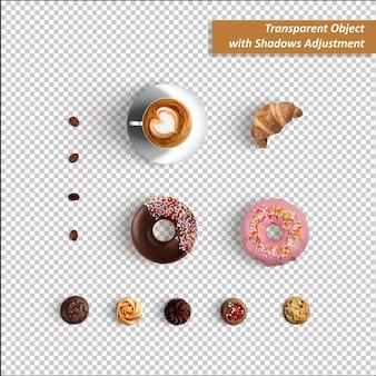 Transparent object   cake & coffee