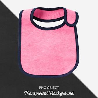 Прозрачный розовый нагрудник для ребенка или детей