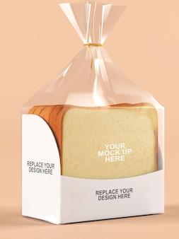 Transparent plastic bakery packaging mockup
