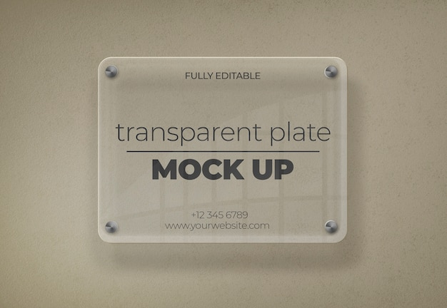 Mockup piatto trasparente